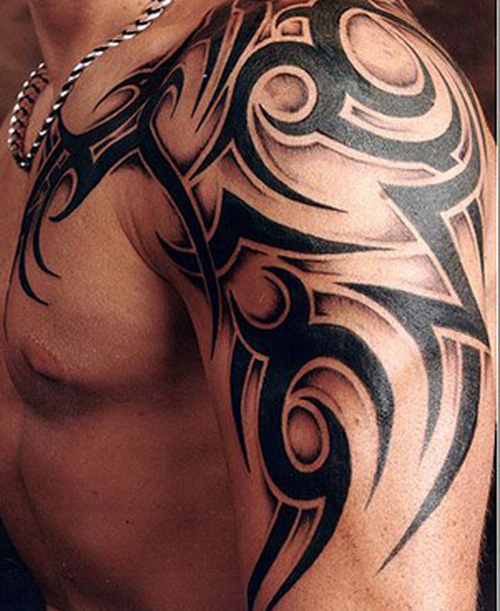 shoulder tribal shoulder tattoo to Shoulder left Tattoo Man Tribal