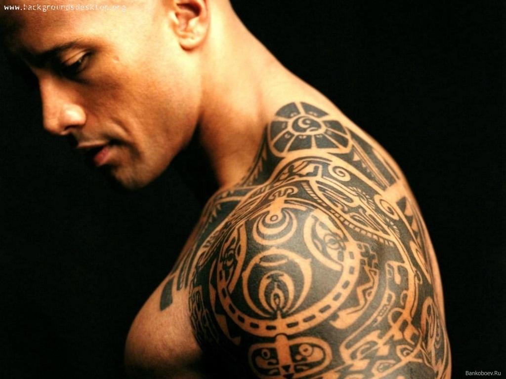 Naori Black Ink Tribal Left Shoulder Tattoo