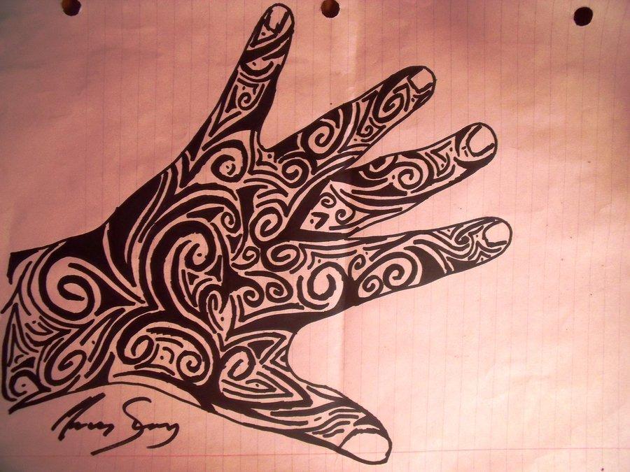 Tribal Hand Tat... Tribal Hand Tattoo Designs
