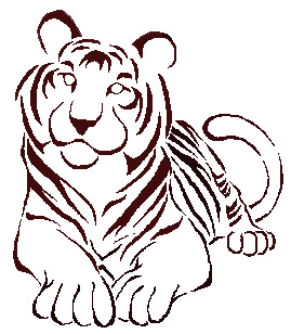 Climbing Tiger And Tribal Tattoo