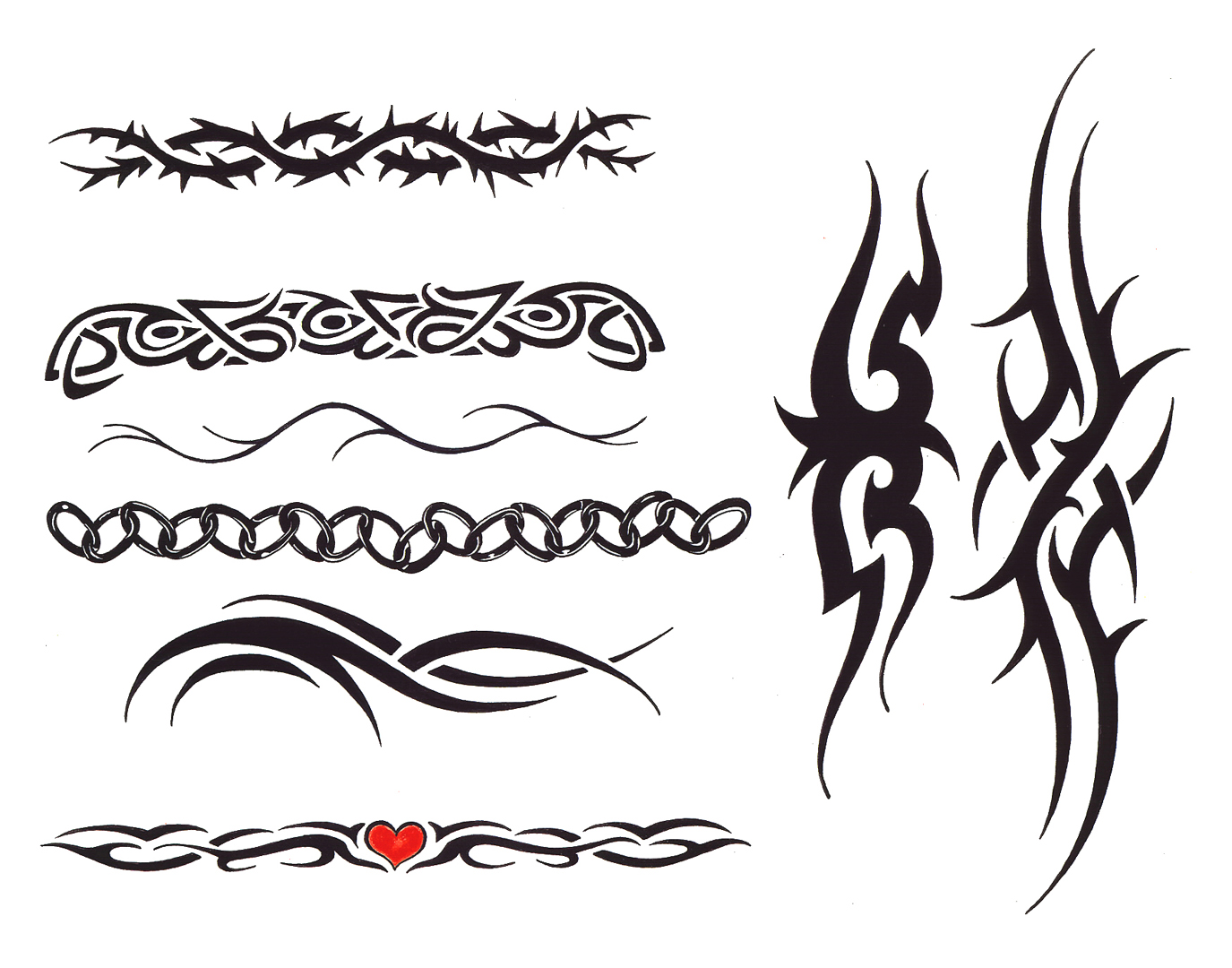 Unique Tribal Tattoos Designs