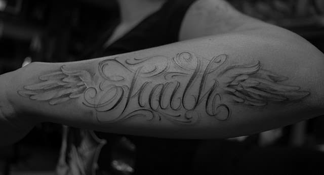 Faith Tattoo On Arm