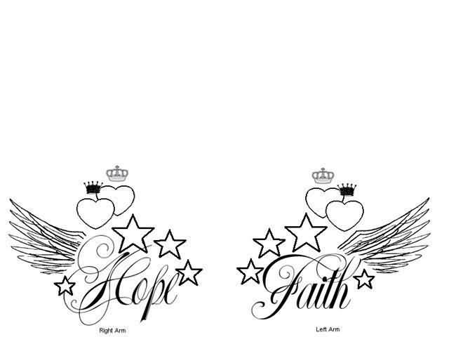 Hope And Faith Tattoo Designs