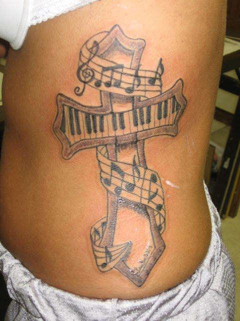 Lefta Side Cross Tattoo