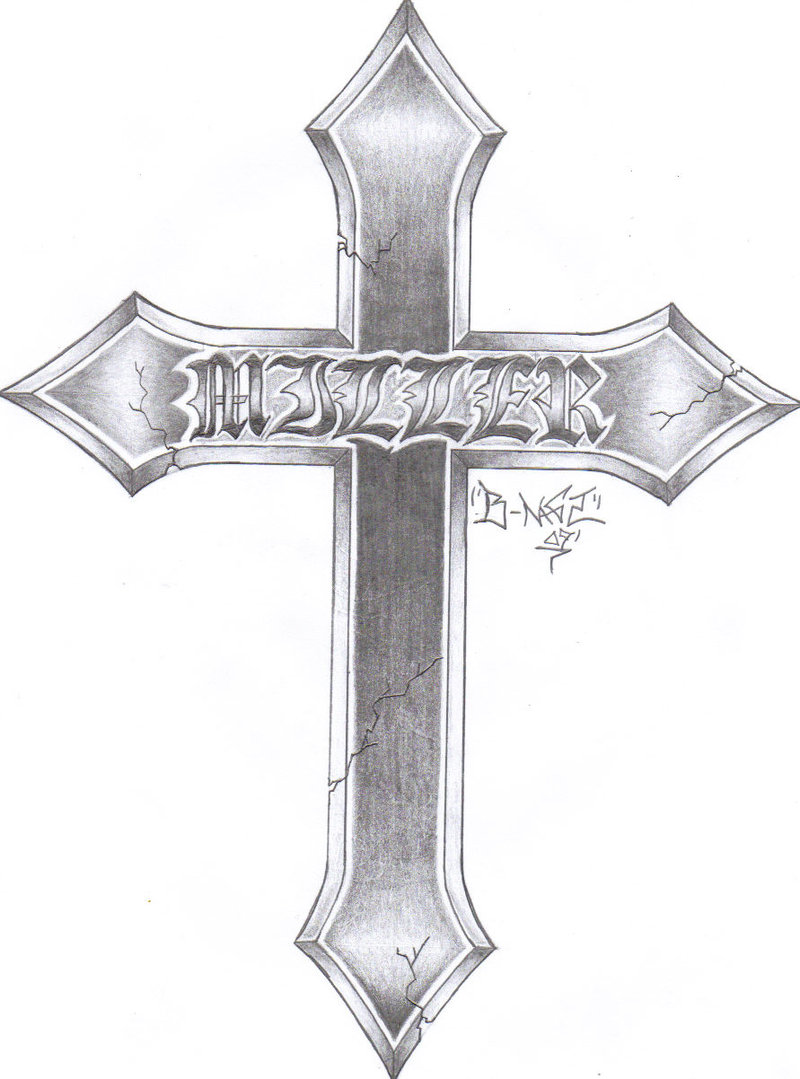 Awesome Tattoo Sketches Of Crosses Tribal Drawings Related