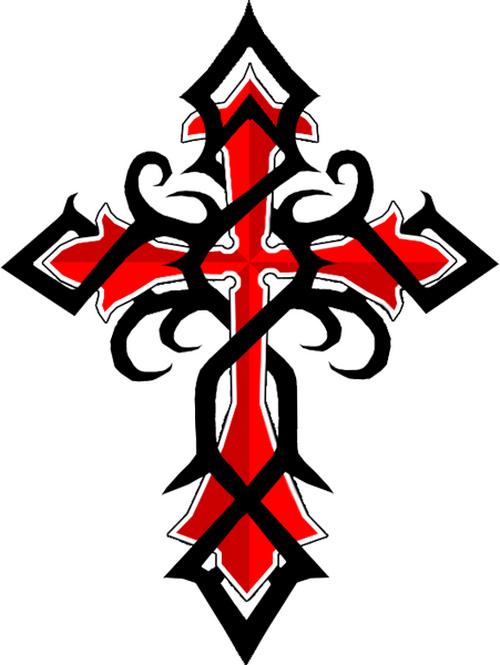 Tribal Crosses Tattoo Designs