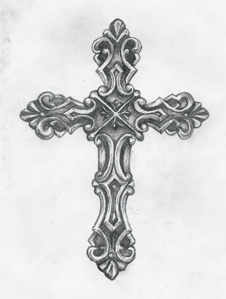 Catholic Cross Tattoos For Girls Catholic Cross Tattoo Design