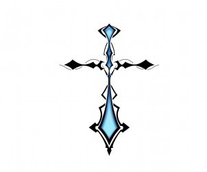 colored cross tattoo design. Black Bedroom Furniture Sets. Home Design Ideas