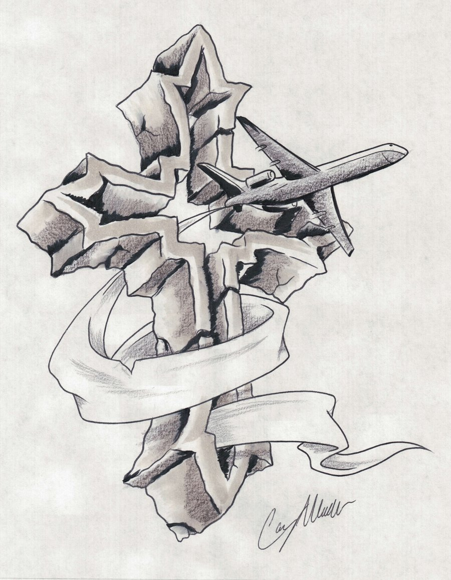 Gallery For gt 3d Cross Tattoo Drawings