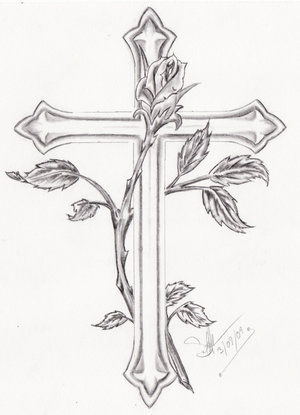 Simple Cross Tattoo Outline