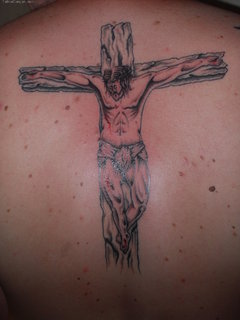 good looking online for sale 100% high quality Jesus On Cross Back Body Tattoo