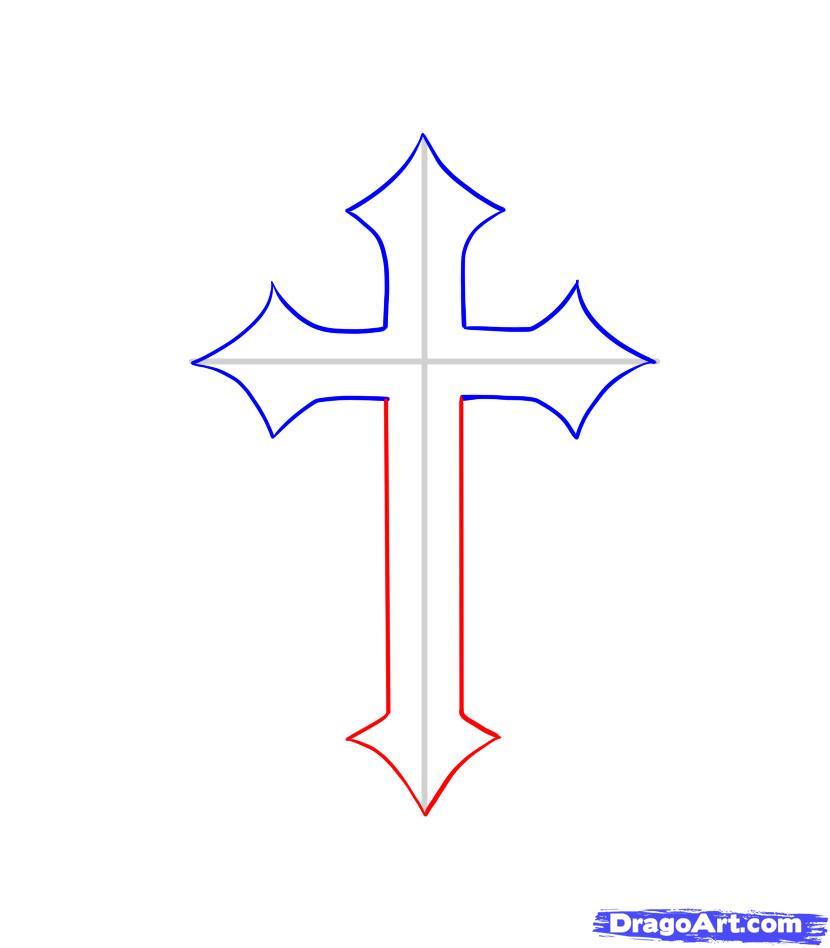 Simple cross outline design cross tattoo images amp designs