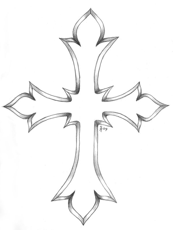 Gallery For gt Simple Cross Outline Tattoo Designs
