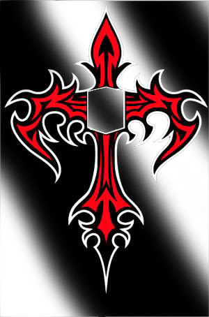 red tribal cross tattoo design. Black Bedroom Furniture Sets. Home Design Ideas