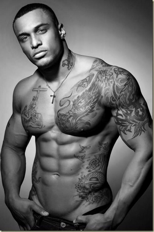 Lion Chest Tattoos For Men