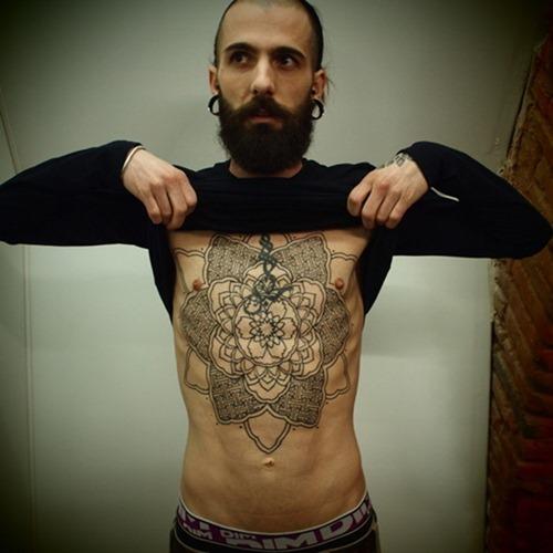Lotus Mandala Tattoo Men Mandala Chest Tattoo For Men