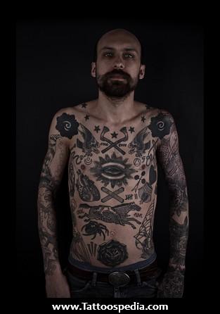 Vintage Chest Tattoo F...