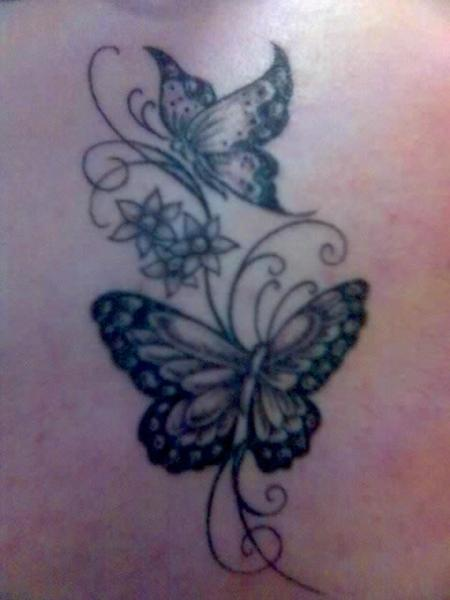awesome flying butterfly tattoo. Black Bedroom Furniture Sets. Home Design Ideas