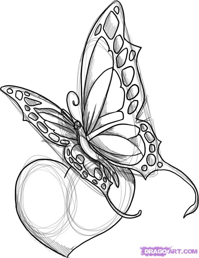 c069ed490997d Heart And Butterfly Tattoo Design