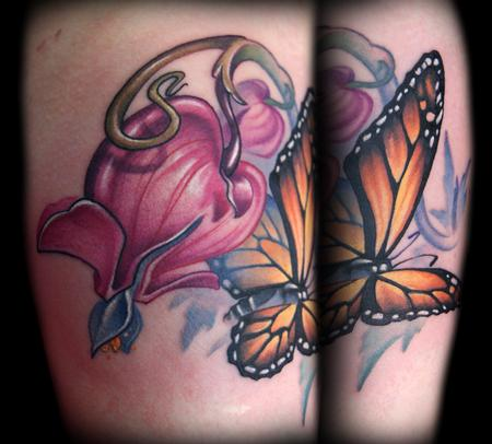 Butterfly tattoo images designs for Red carnation tattoo