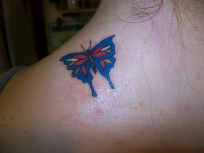 Butterfly Tattoo On Back Desing 2014
