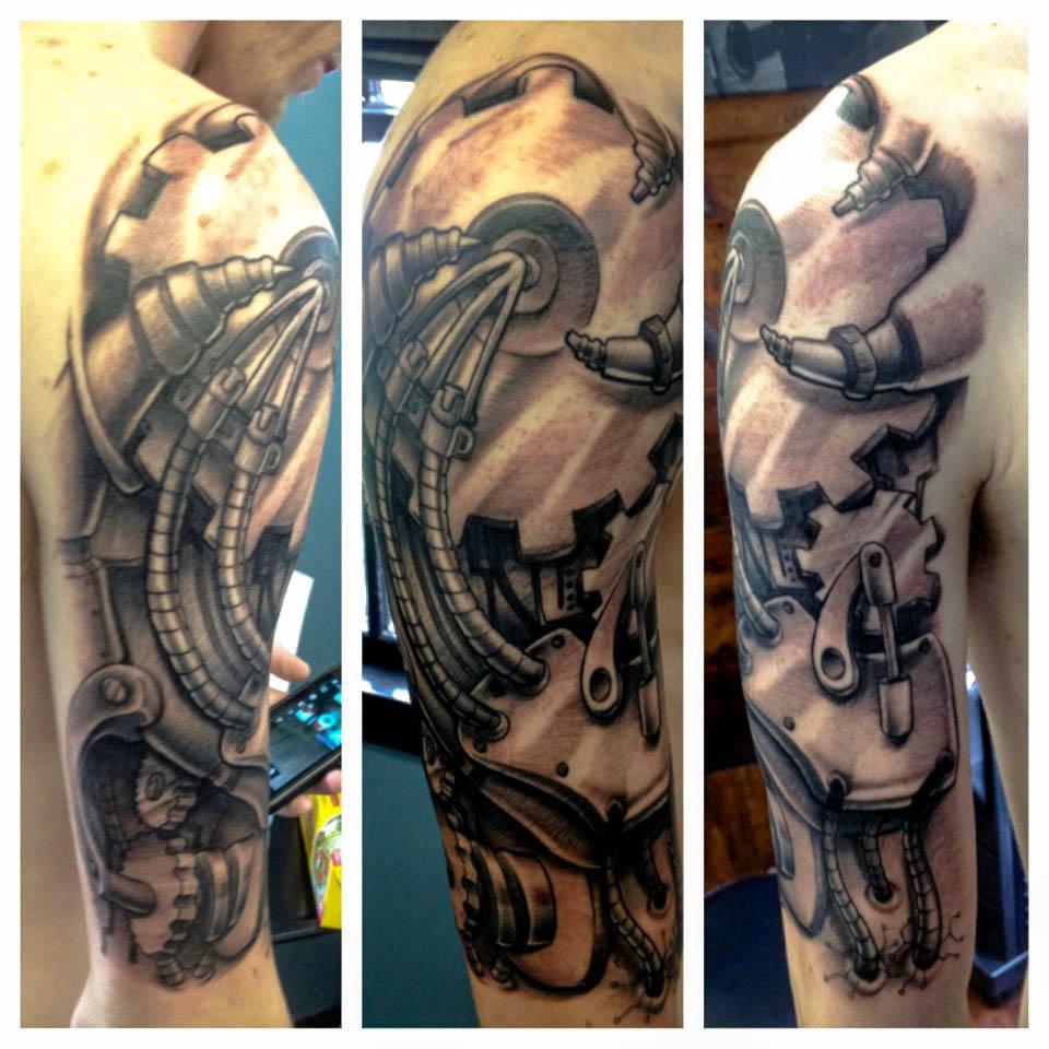 Steampunk Wings Tattoo Designs Tattoo on half sleeve