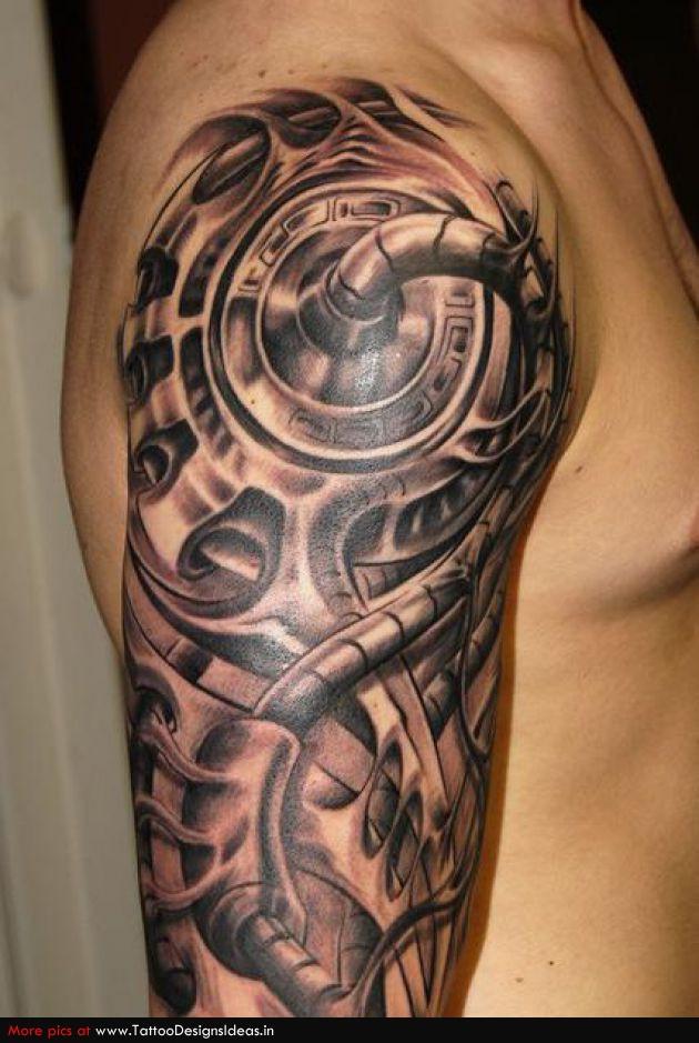 Bio sleeve tattoo sketch
