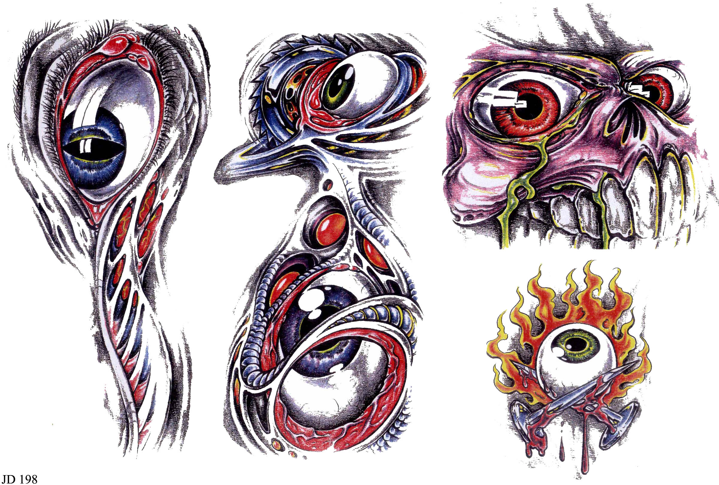 Biomechanical tattoos designs - Biomechanical Eyes Tattoos Designs