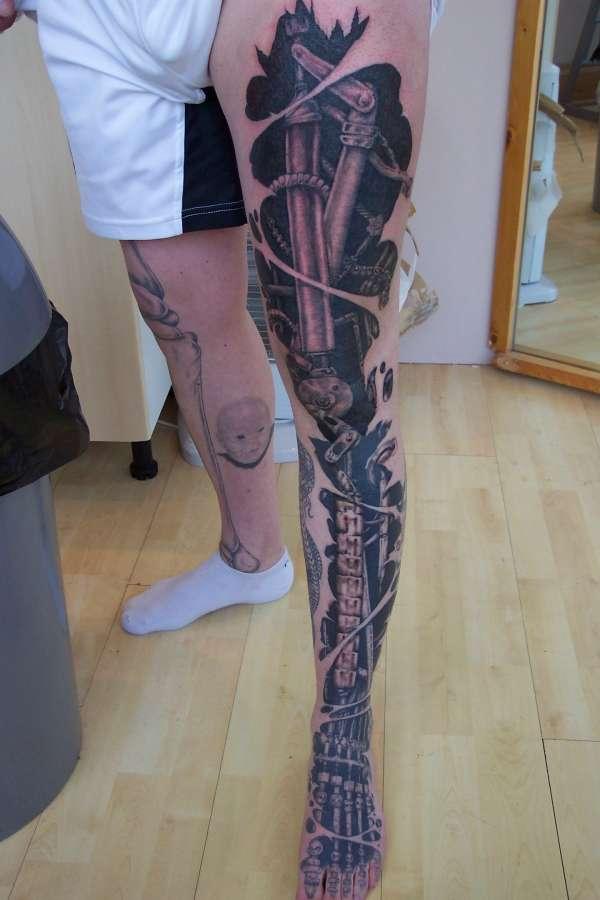 Robot Full Sleeve Tatt...