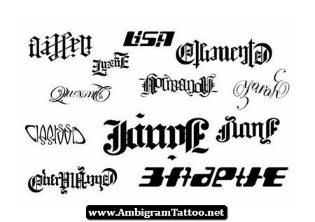 Amazing Ambigram Tattoos Designs