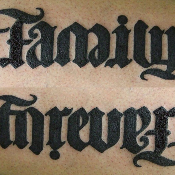 Family Forever Tattoos Black ink family forever