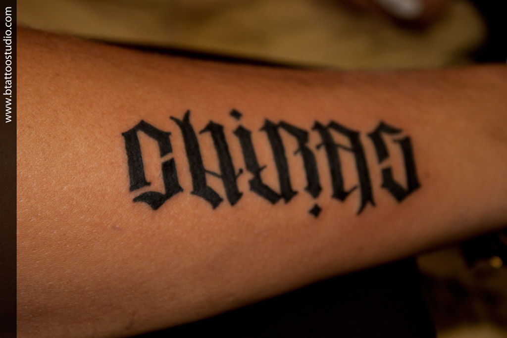 Chirag Name Ambigram Tattoo