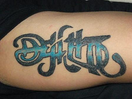 death life ambigram tattoo. Black Bedroom Furniture Sets. Home Design Ideas