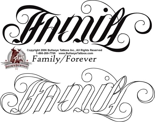 Family Forever Tattoos Family forever ambigram tattoo