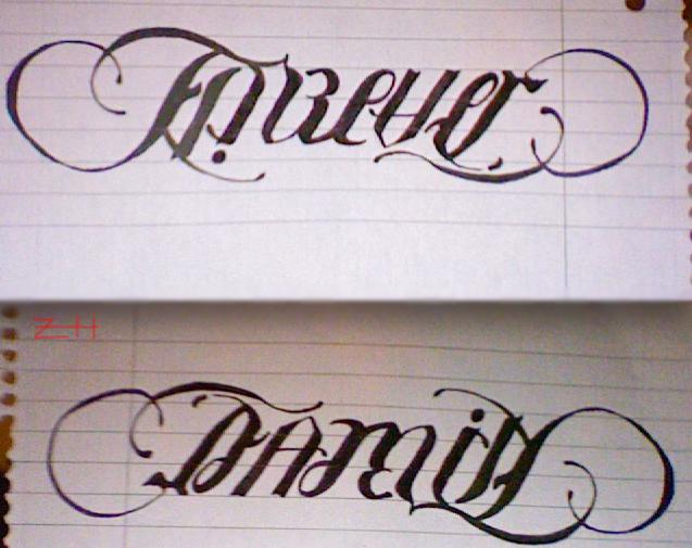 Family Forever Tattoos Family forever ambigram tattoo