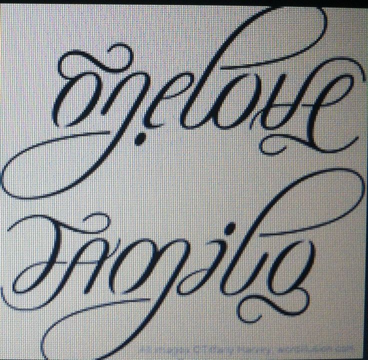 One love family ambigram tattoo design for One love tattoo designs