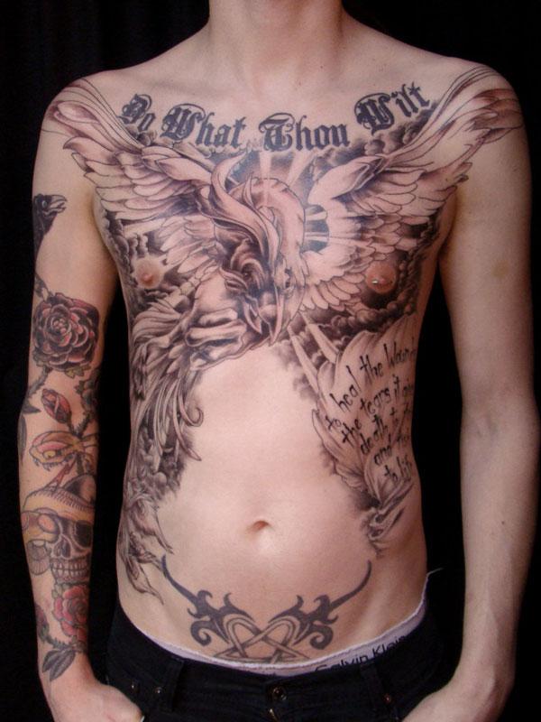 Classic Chest Eagle Tattoo