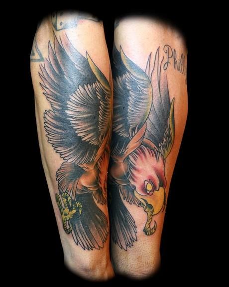 Colored Eagle Tattoo