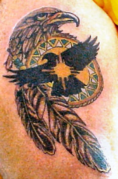 Eagle Dreamcathcer Tattoo