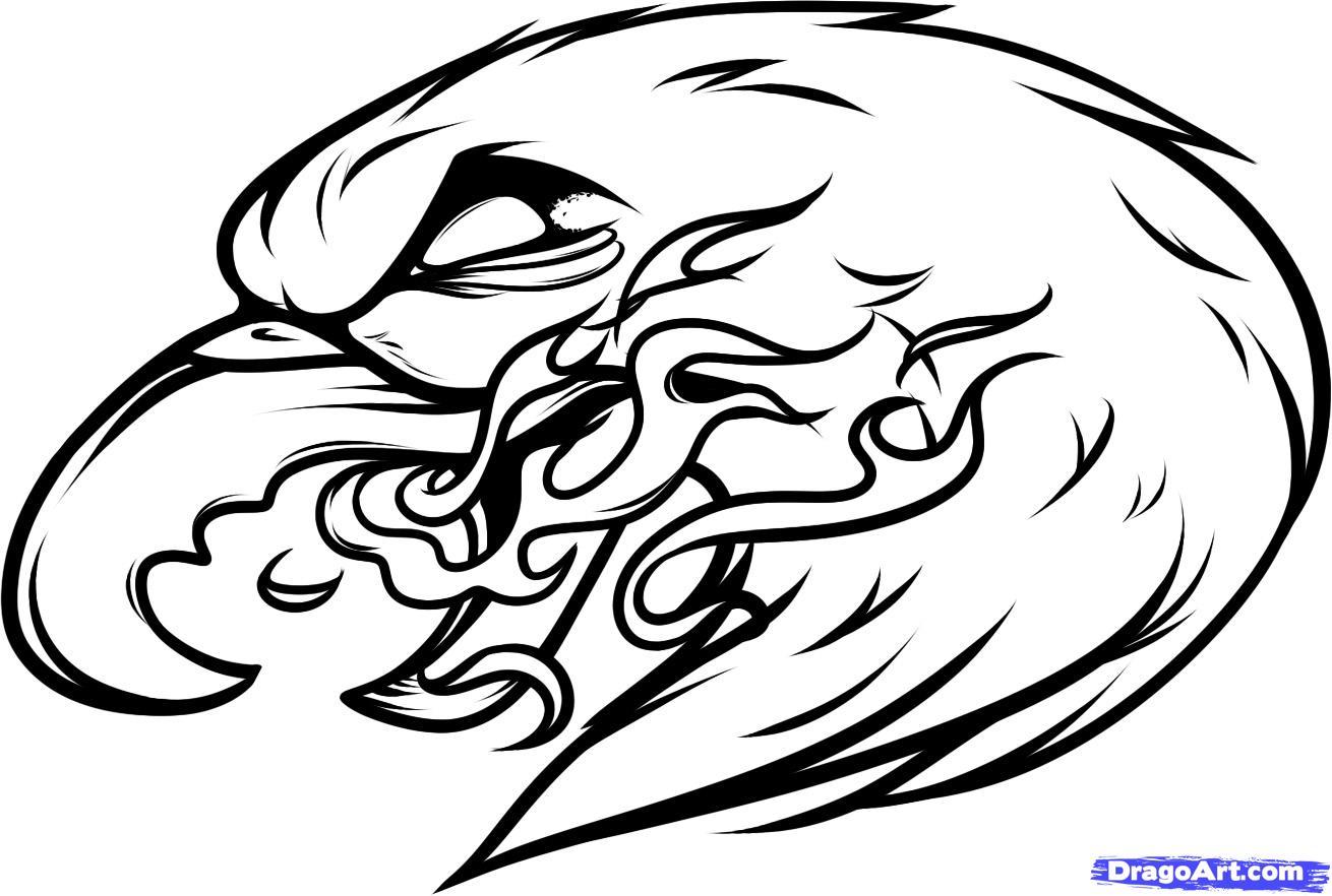 eagle with flame tattoo design. Black Bedroom Furniture Sets. Home Design Ideas