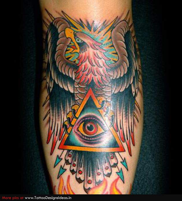 eagle with pyramid eye tattoo. Black Bedroom Furniture Sets. Home Design Ideas
