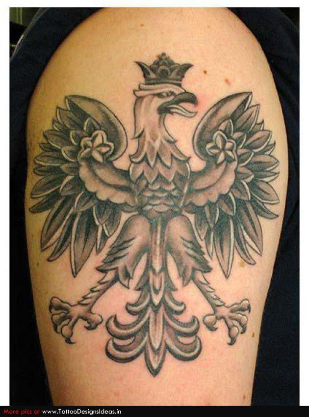 grey ink crown eagle tattoo. Black Bedroom Furniture Sets. Home Design Ideas