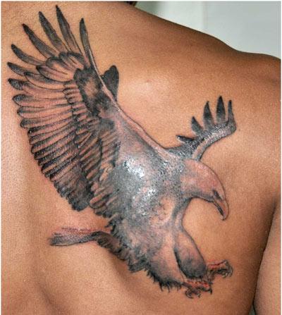 grey ink flying eagle tattoo. Black Bedroom Furniture Sets. Home Design Ideas