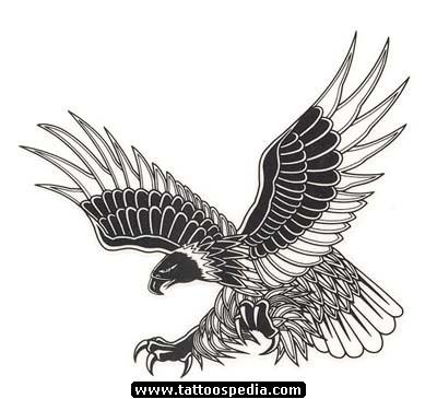 1a2c4afc2 Inspiring Grey Ink Flying Eagle Tattoo Design