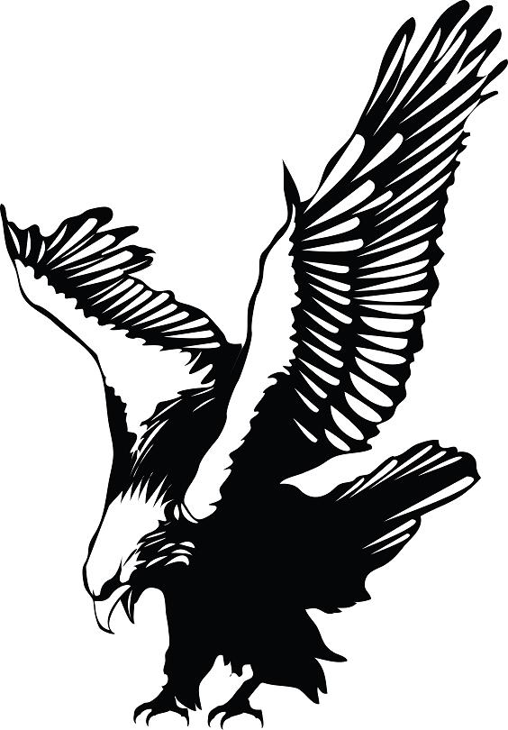 Landing Eagle Tattoo Design