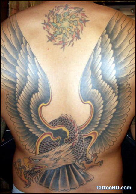 Eagle tattoo images designs for Eagle tattoo on back
