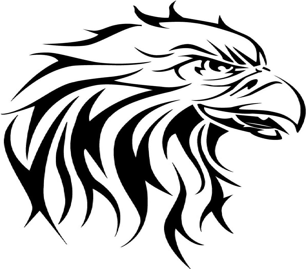 New Tribal Eagle Head Tattoo Design