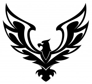 Flying Eagle Tattoo Design With Banner Wings Of Eagles