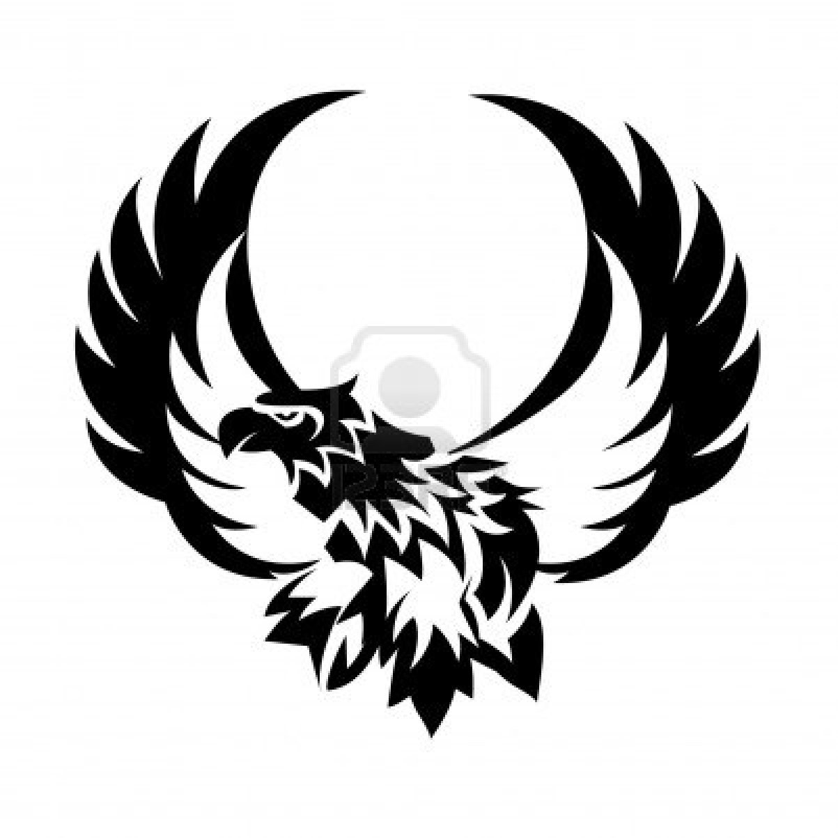 Open Wings Eagle Tattoo Design  Eagle Wings Logo Design