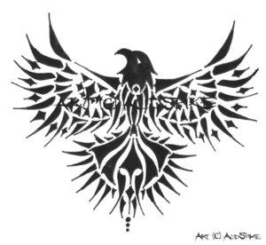 Stunning Tribal Eagle Tattoo Design